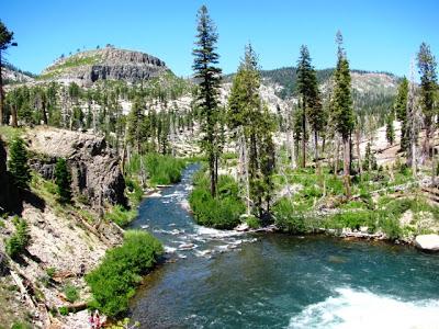 Mammoth Mountain Rainbow Falls