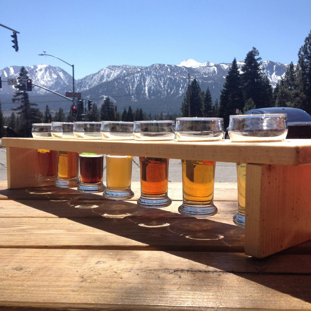 Mammoth Brewing Company Beer Flight